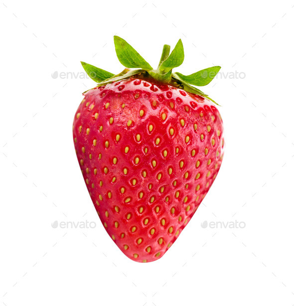 Red berry strawberry isolated - Stock Photo - Images