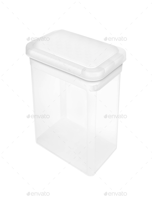 Plastic food box isolated - Stock Photo - Images