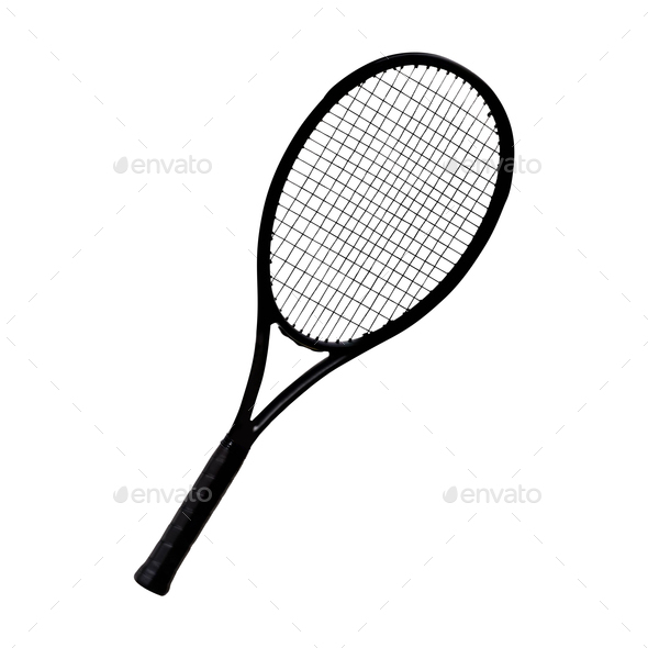 Racket tennis isolated - Stock Photo - Images