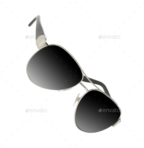 sunglasses isolated white background - Stock Photo - Images