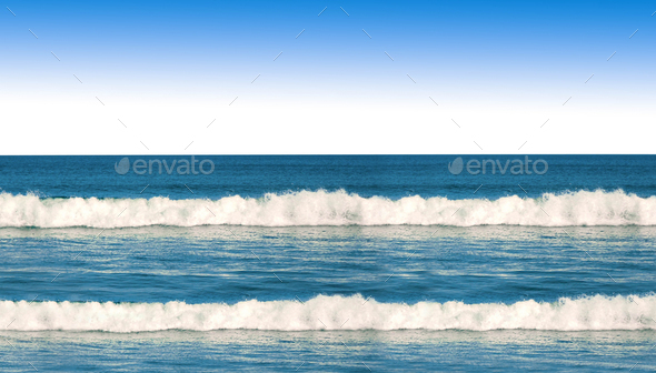 Blue Ocean Waves - Stock Photo - Images