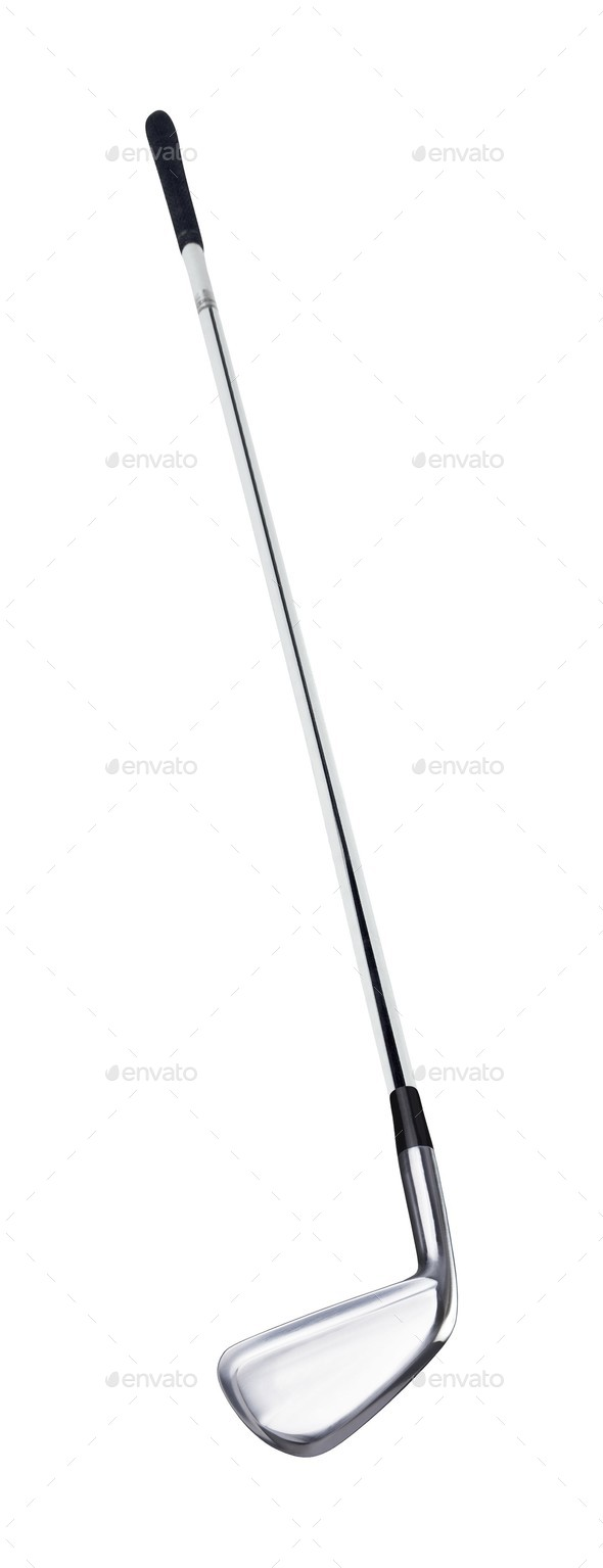 Golf club on white background - Stock Photo - Images