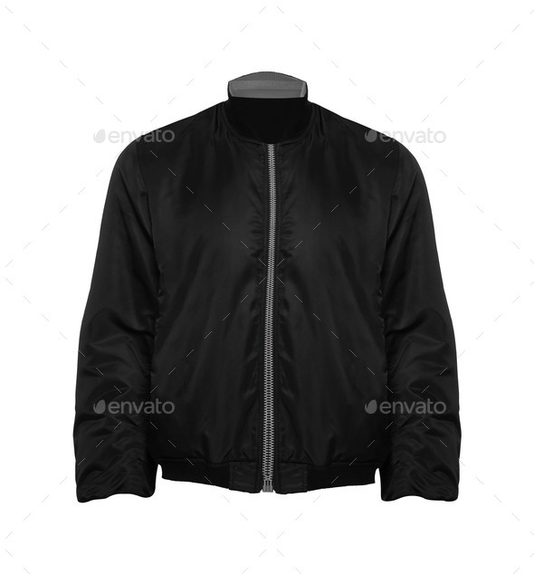 Black Jacket isolated - Stock Photo - Images