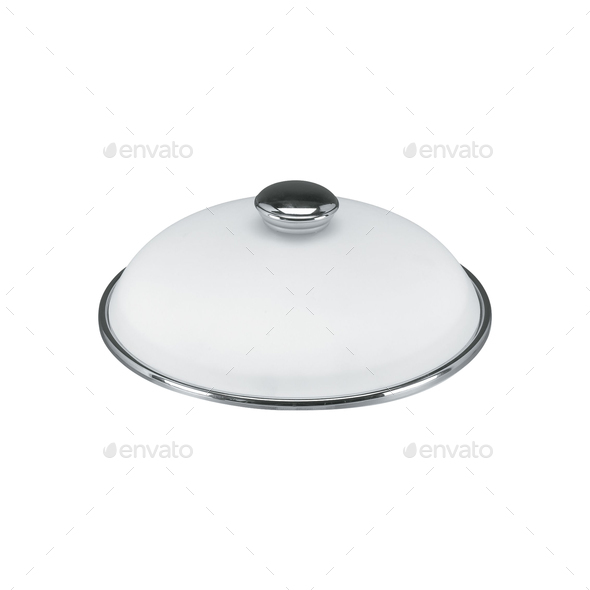 a covered metal serving platter - Stock Photo - Images