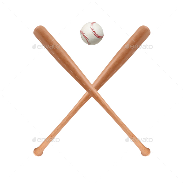 Baseball bats and ball - Stock Photo - Images