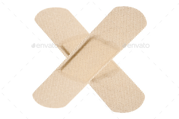 adhesive bandage isolated on white - Stock Photo - Images