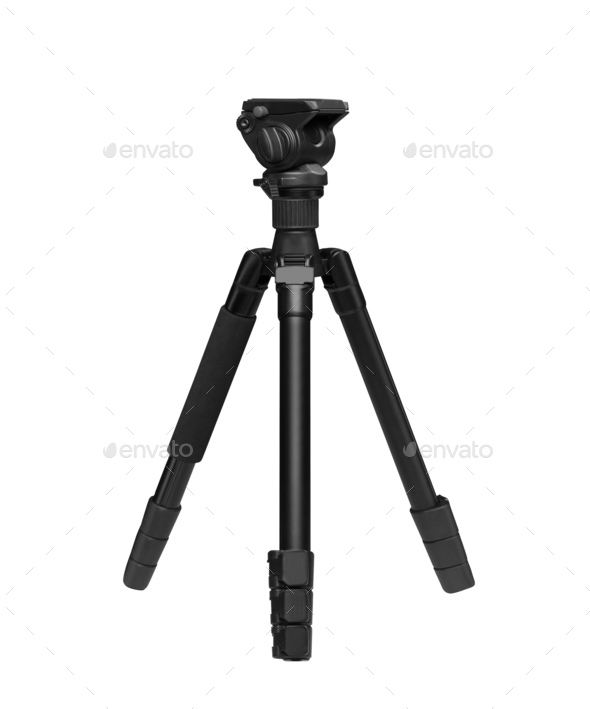 Photo tripod isolated on white background - Stock Photo - Images