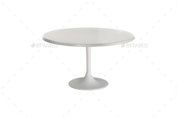 white table isolated on white background - Stock Photo - Images
