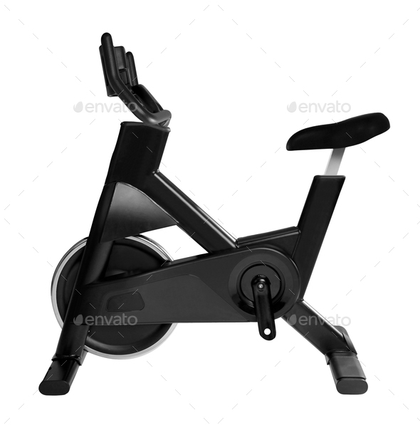 exercisers bike isolated - Stock Photo - Images