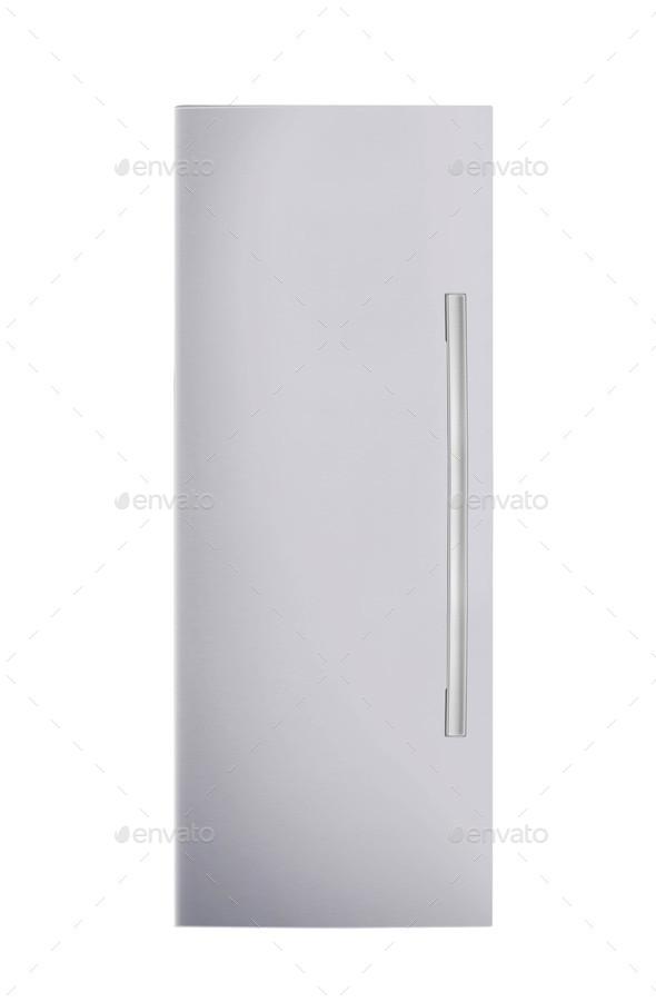 fridge freezer isolated on white background - Stock Photo - Images