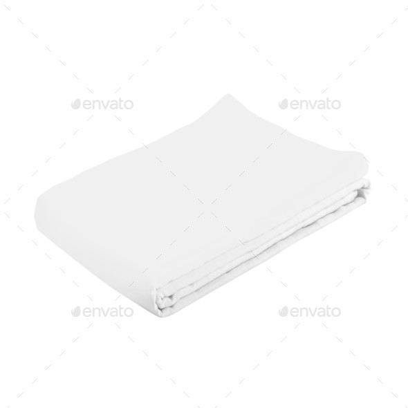 white spa towel isolated - Stock Photo - Images