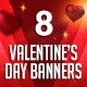 Valentine Day Banners - GraphicRiver Item for Sale