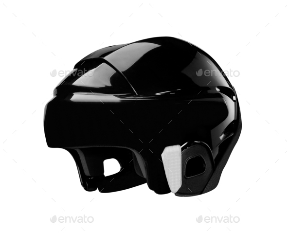 bike helmet on white background - Stock Photo - Images