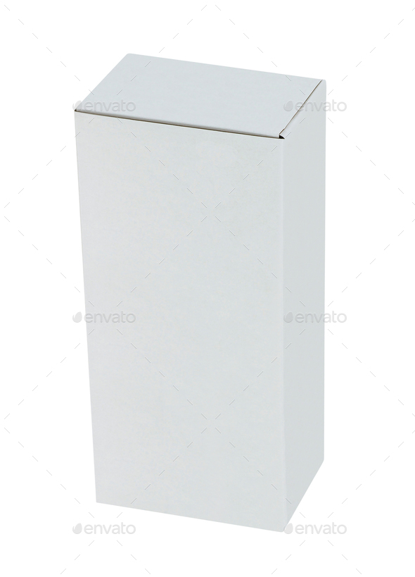 White box isolated on white background - Stock Photo - Images