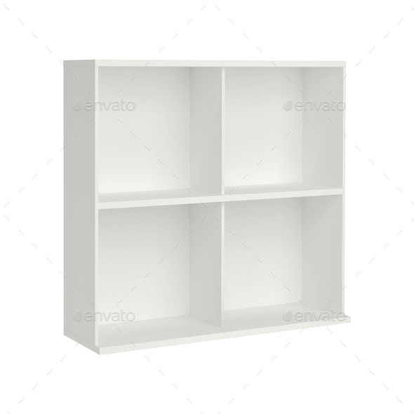 beautiful white wooden modern cupboard isolated - Stock Photo - Images