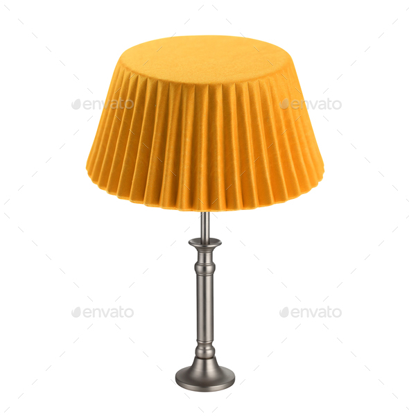 table lamp isolated on white - Stock Photo - Images