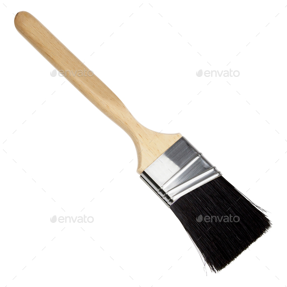 Paint brush isolated on white - Stock Photo - Images
