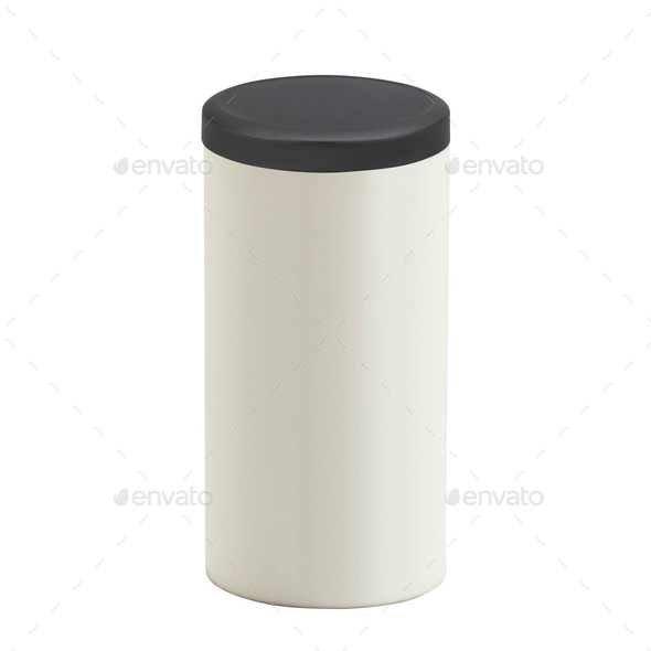 trash can isolated on white background - Stock Photo - Images