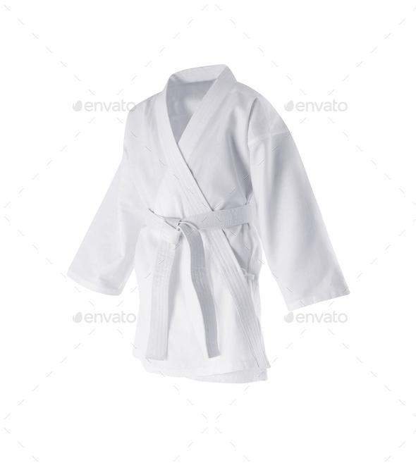Judogi with white belt - Stock Photo - Images