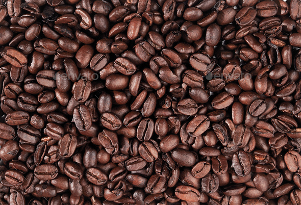 Coffee beans closeup - Stock Photo - Images