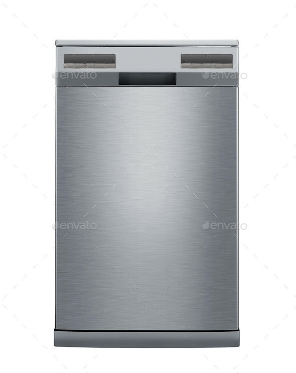 modern dishwasher isolated on white - Stock Photo - Images