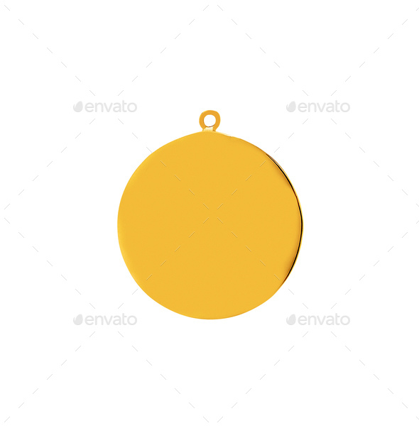 Gold medallion on a gold chain - Stock Photo - Images
