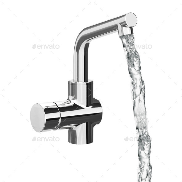 Chrome Faucet Isolated - Stock Photo - Images