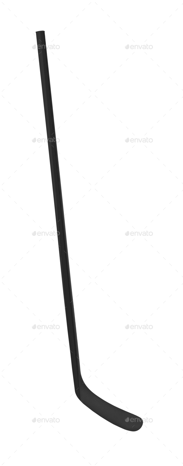 Black ice hockey stick - Stock Photo - Images