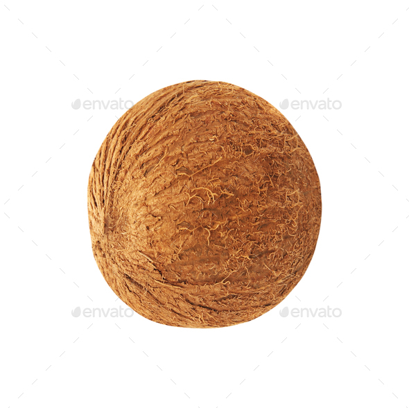 Coconut isolated on white background - Stock Photo - Images