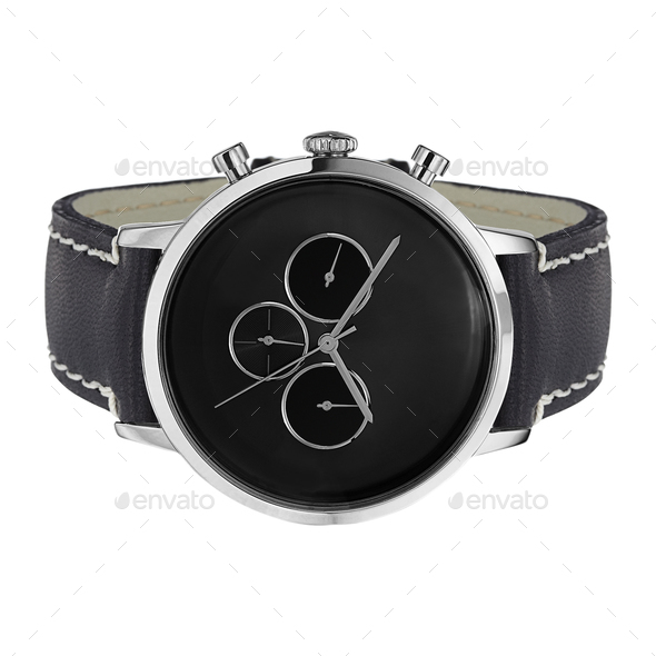 Men's mechanical watch isolated on white - Stock Photo - Images