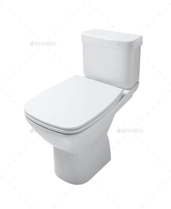 toilet bowl isolated - Stock Photo - Images