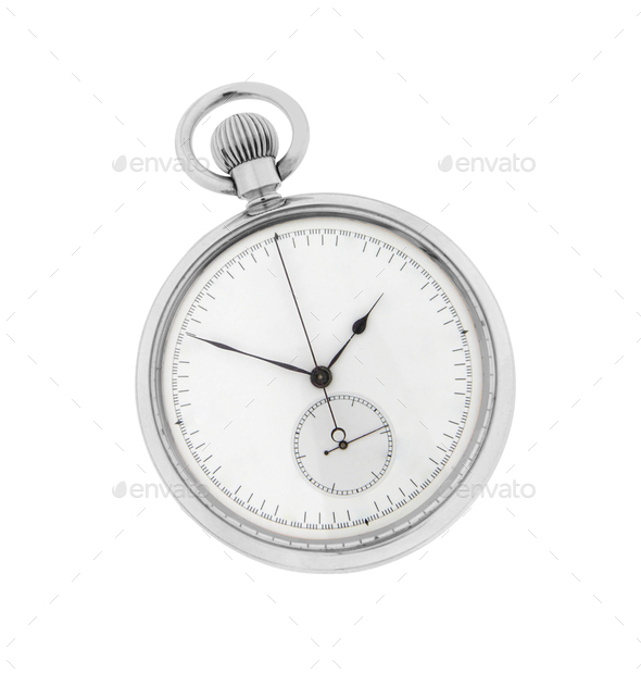 Stopwatch isolated on white - Stock Photo - Images
