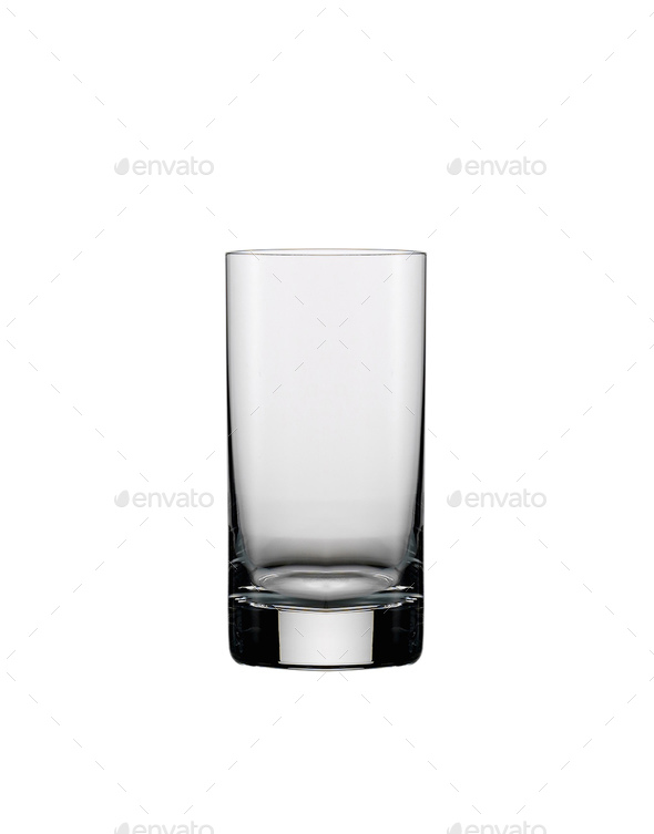 A glass of vodka on a white background - Stock Photo - Images