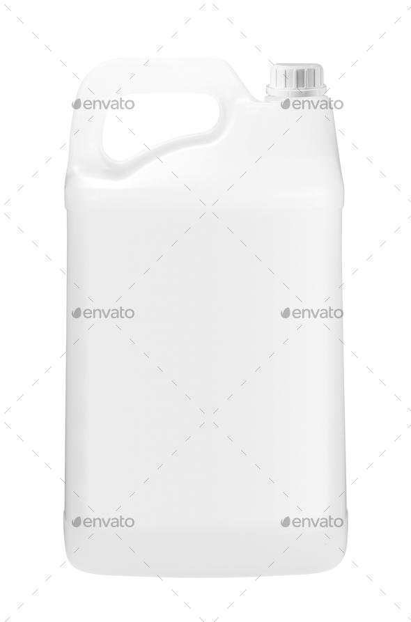 plastic bottle of motor oil - Stock Photo - Images