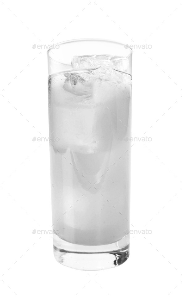 Glass with water and ice - Stock Photo - Images
