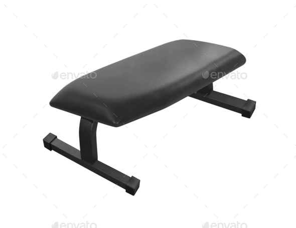 Exercise weight bench isolated on white - Stock Photo - Images