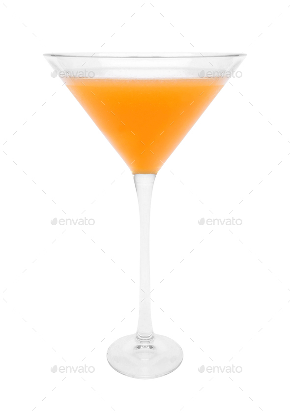 cocktail glass isolated on white - Stock Photo - Images