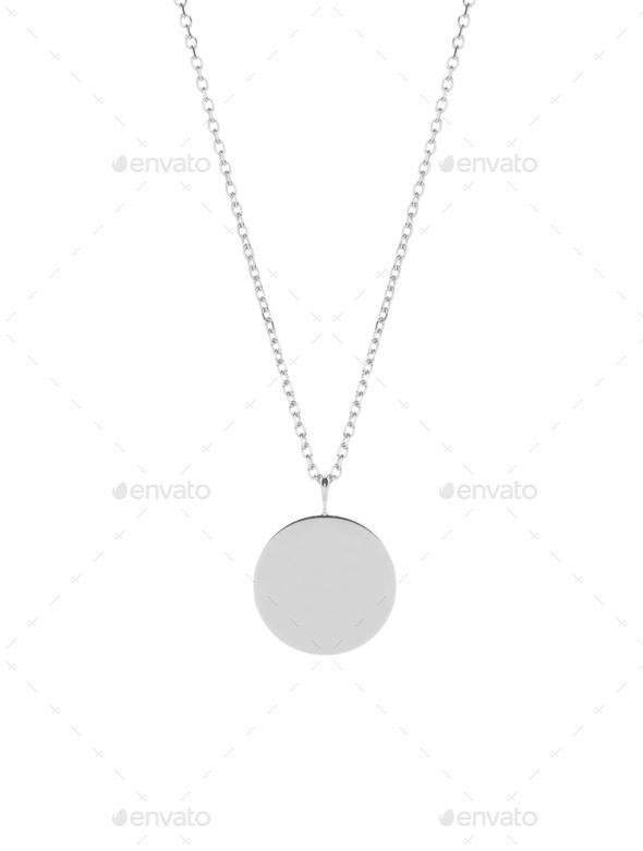 medallion isolated on white - Stock Photo - Images