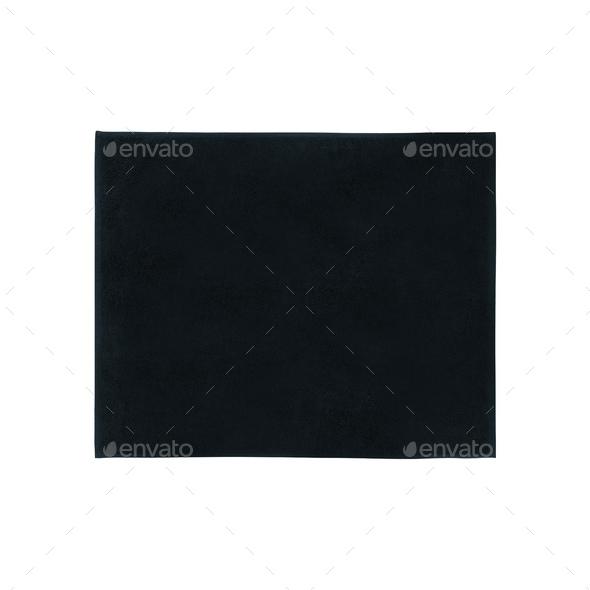 black carpet isolated on white - Stock Photo - Images