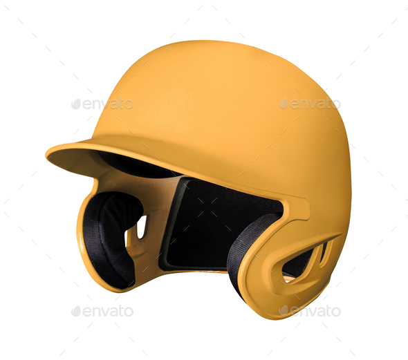 Classic Baseball black helmet - Stock Photo - Images