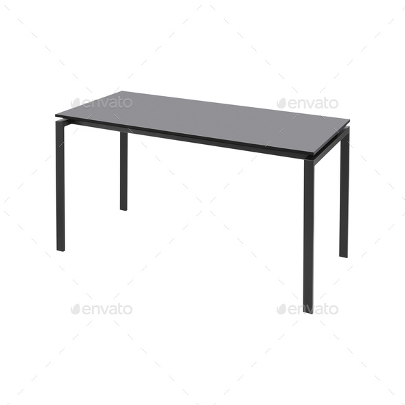 Black table isolated on white - Stock Photo - Images