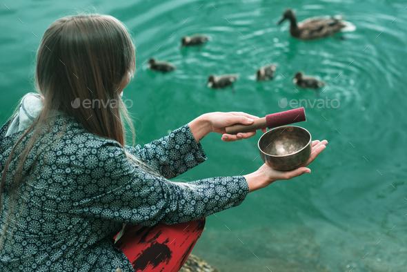 Singing bowl - Stock Photo - Images