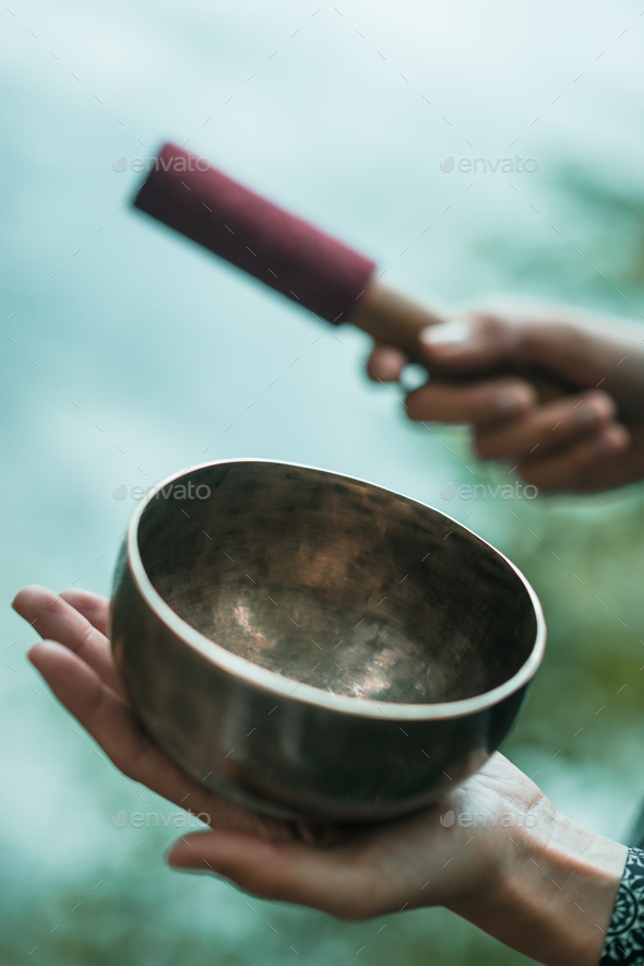 Tibetan bowl - Stock Photo - Images