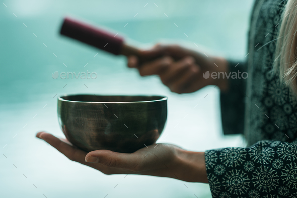 Singing bowl - Stock Photo - Images