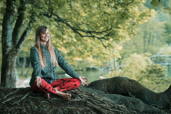 Mindful meditation - Stock Photo - Images