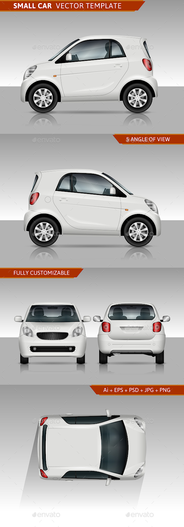 Small Car Vector Template - Man-made Objects Objects