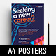 Recruitment Agency Poster Templates - GraphicRiver Item for Sale