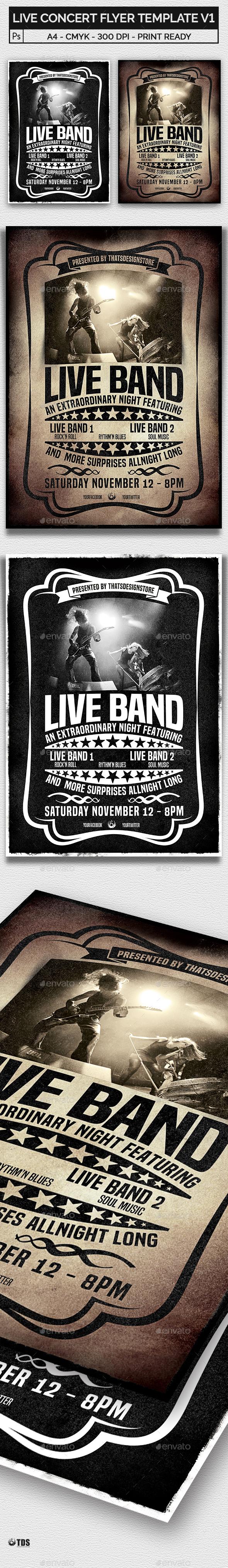 Live Concert Flyer Template V1 - Concerts Events