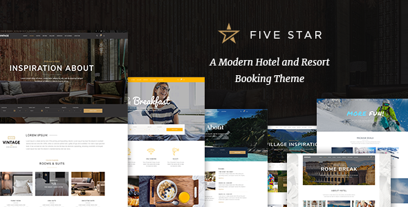 ThemeForest FiveStar A Modern Hotel and Resort Booking Theme 21275459