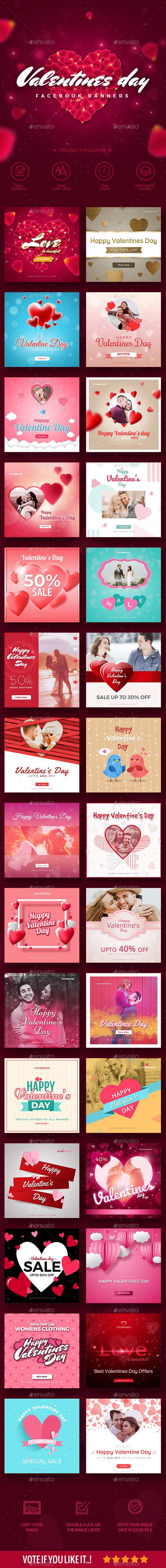 30 Valentines Day Instagram Promotion Banners - Social Media Web Elements